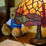 Tiffany lamp, twin bedroom